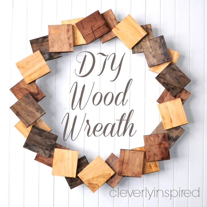 As a crafter I have a lot of leftover bits and pieces of wood. This wreath makes perfect use of all that extra wood, on Cleverly Inspired.