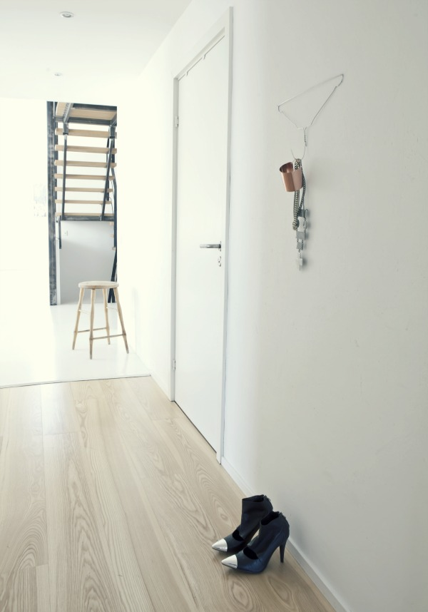 Maybe you just need something very simple for your entry? Just flip that hanger upside down, attach to the wall, and you have a a wall hook! Found on Annaleena Shop.