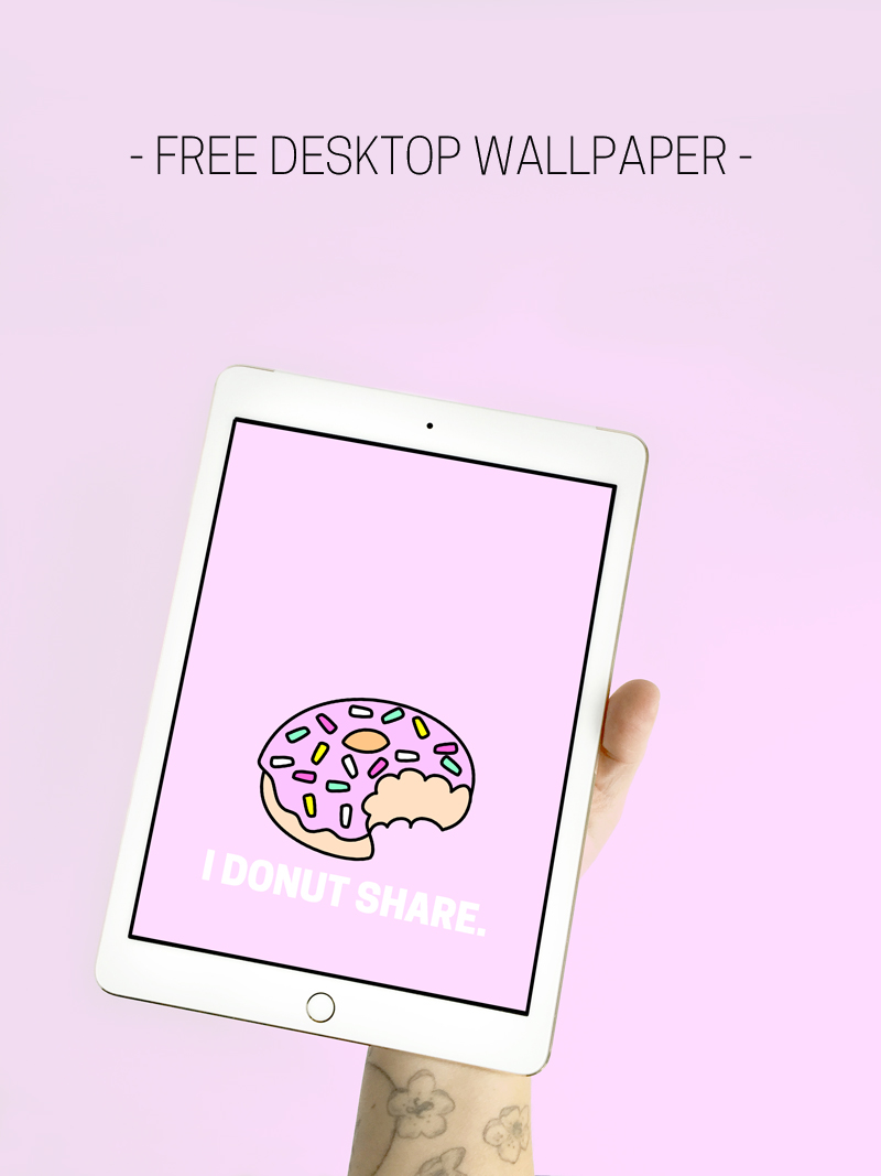 I Donut Share Free Desktop Wallpaper - from The Paper Mama