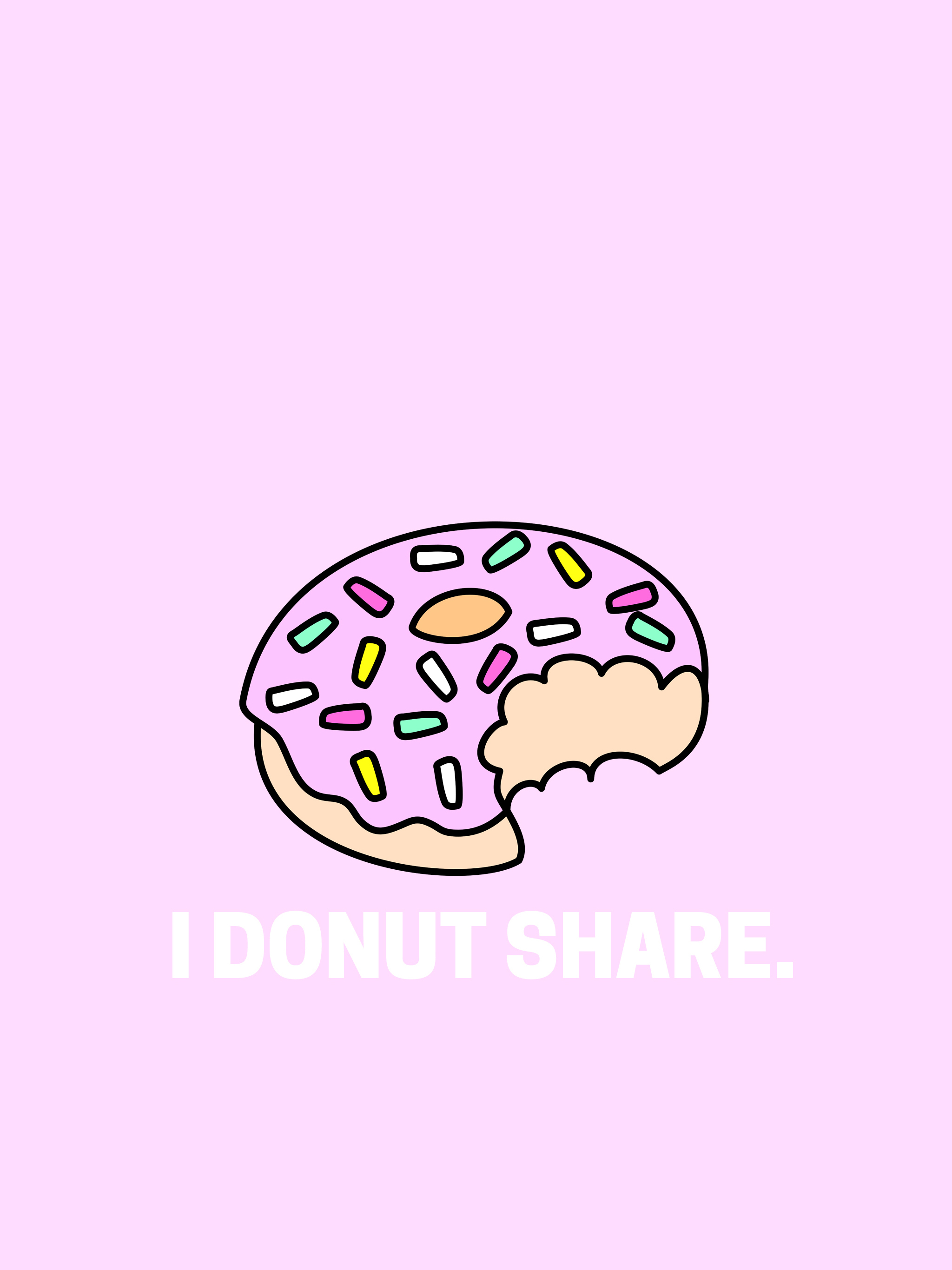 I Donut Share Free Desktop Wallpaper