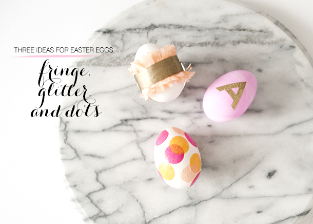 Three Pretty Easter Egg Decorations from House of Earnest.