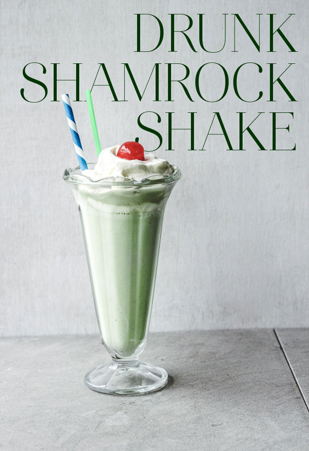 Boozy Shamrock Shake for Saint Patricks Day, from BuzzFeed.