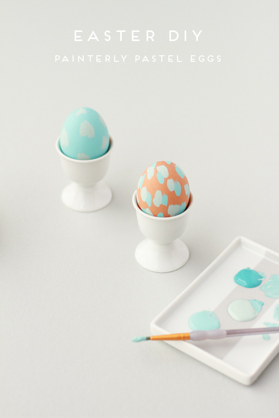 Painterly Pastel Eggs from Paper and Stitch.