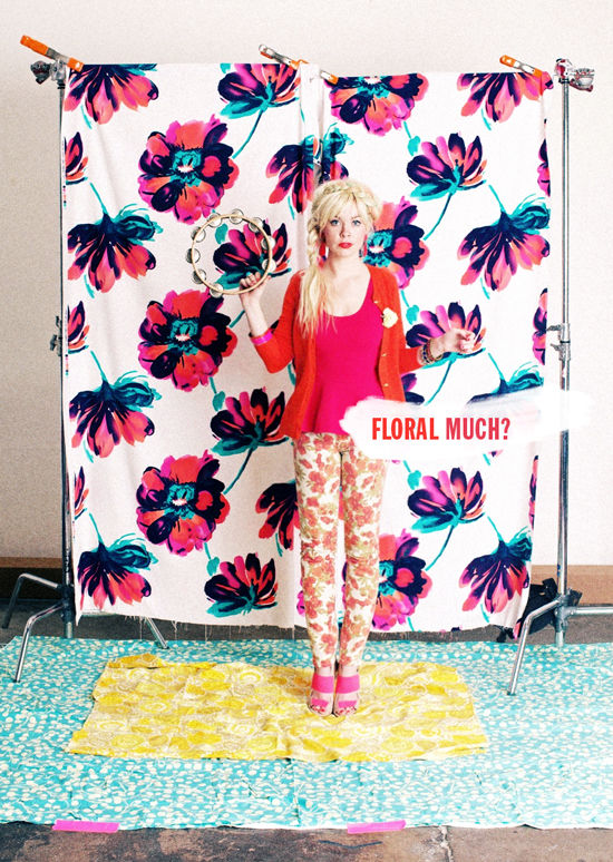 Hang up some favorite fabric to create this backdrop, from Design Love Fest.