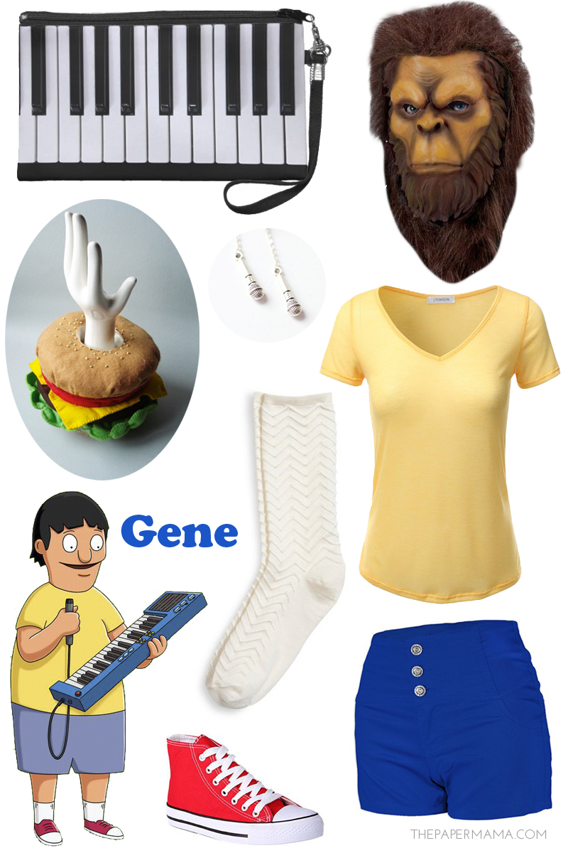 Gene Belcher Halloween Costume Bob's Burgers