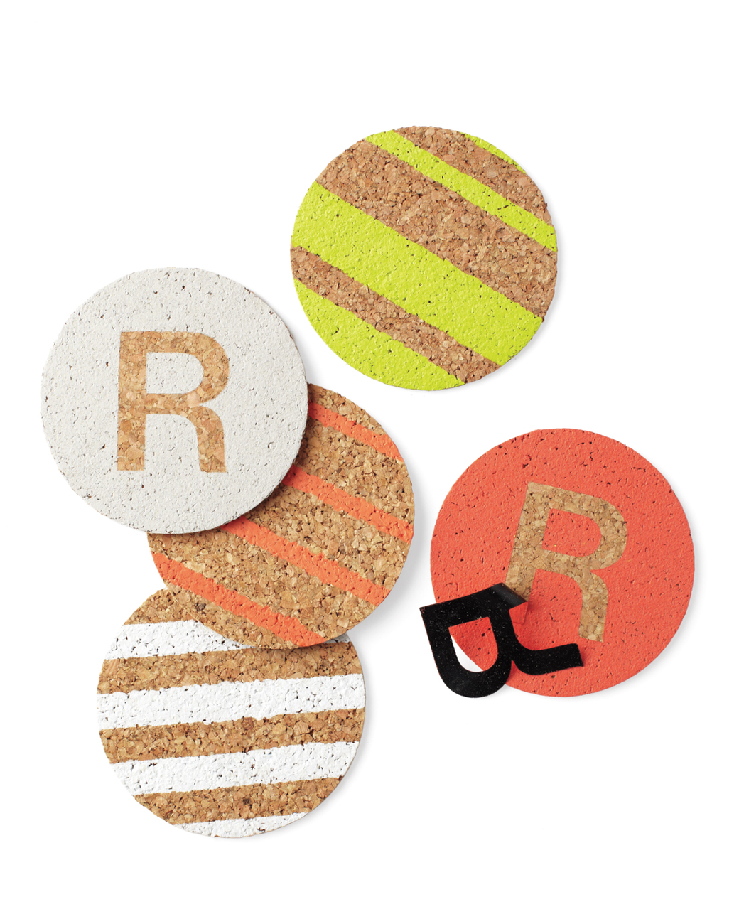 Create these personalized coasters for the party planner in your life. Found on Martha Stewart.