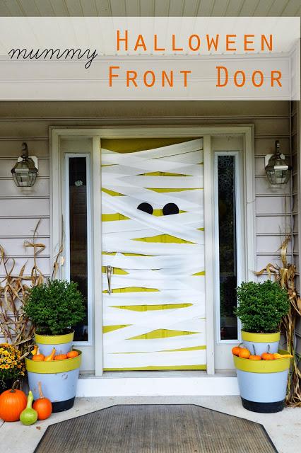 Transform your door into a mummy, on East Coast Creative.