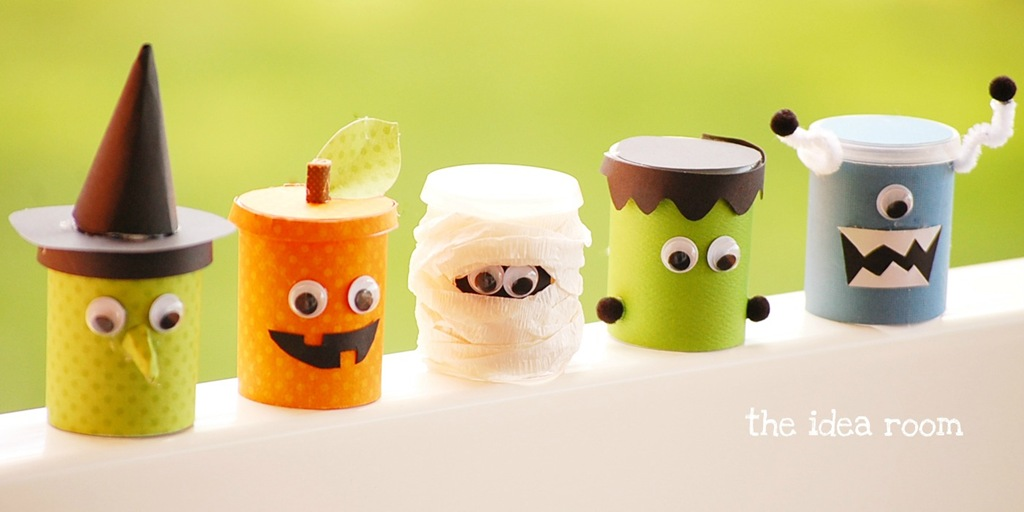 Another non-candy idea: hand out these cute play dough goodies, from The Idea Room.