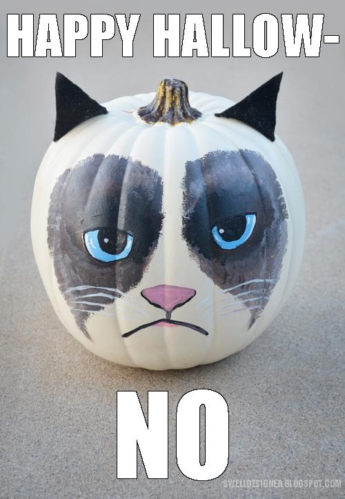 http://www.theswelldesigner.com/2013/08/grumpy-cat-pumpkin-diy.html