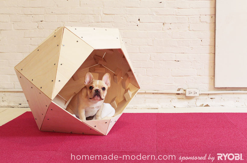 If you are a little more crafty and know how to use a power tool check out this amazing DIY Geometric Doghouse. Found on Home Made Modern.