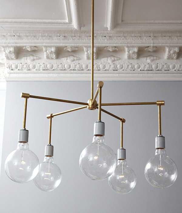 This Brass Chandelier DIY looks like a lot of work, but the end result is worth it. Found on One Kings Lane.