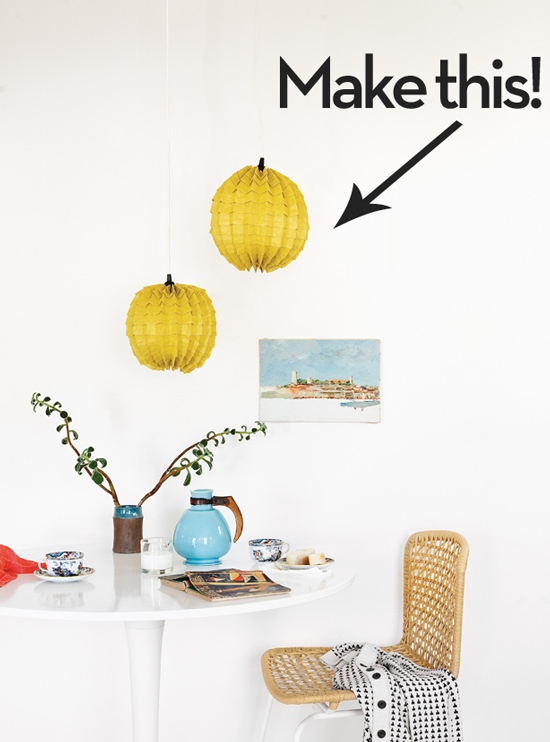 Are you up for a fun paper folding project? Check out how to fold some paper into these cool lamps! Found on Curbly.