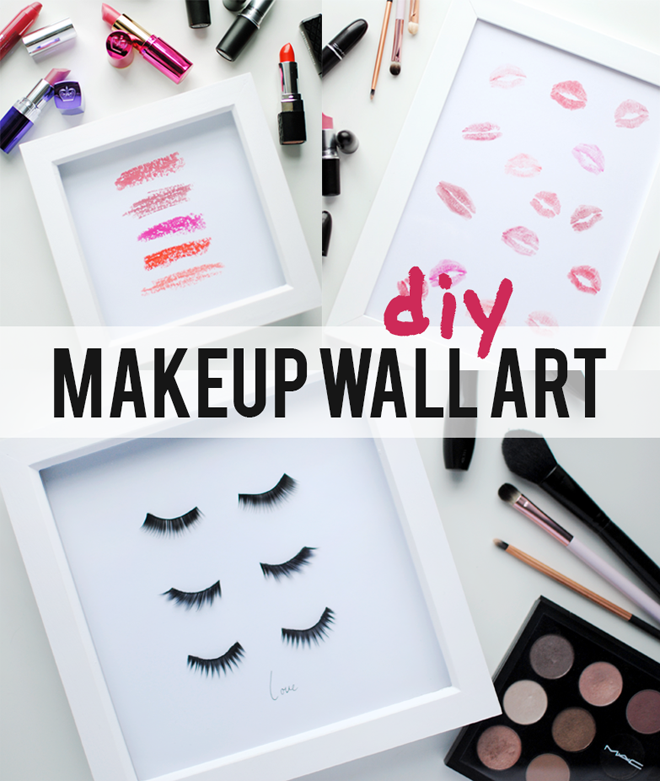 Do you need some inexpensive bathroom artwork? Here you go. DIY Beauty Artwork. Found on This Fashion is Mine.