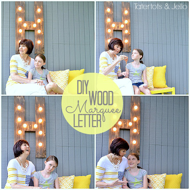 DIY outdoor marquee letter light, from Tatertots and Jello.