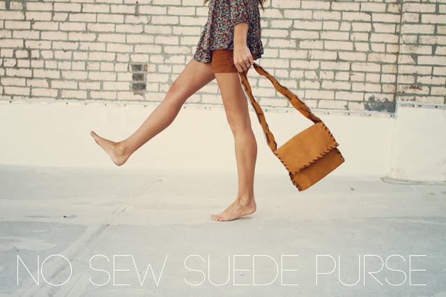 http://sincerelykinsey.blogspot.com/2012/06/no-sew-suede-purse-diy.html