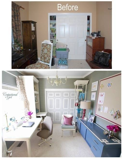 This home office makeover is so amazing! I love how it turned out, from Centsational Girl.