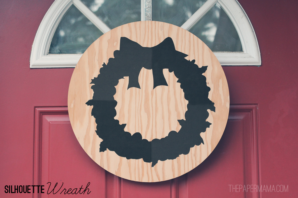 Silhouette Wreath // thepapermama.com