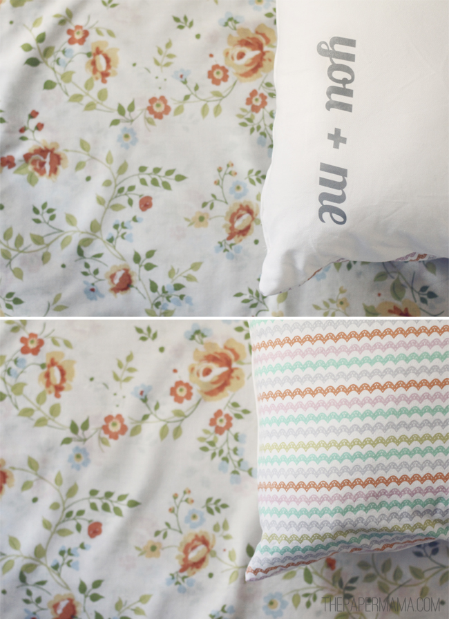 You Plus Me Pillow DIY // thepapermama.com