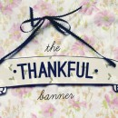Thankful Banner Printable // thepapermama.com