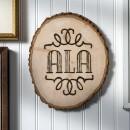 Wood Burning Décor: DIY Monogram Plaque
