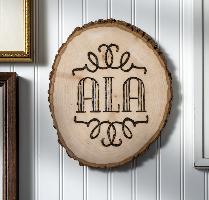 Wood Burning Décor: DIY Monogram Plaque
