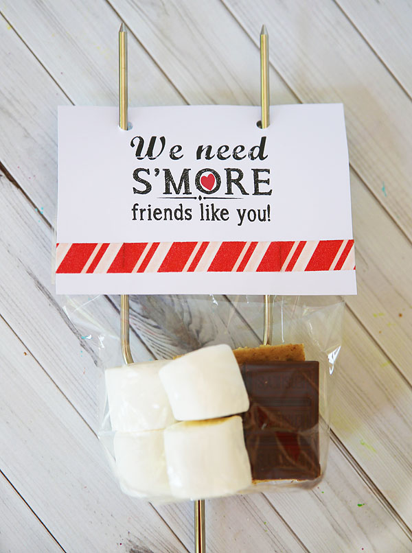 S'mores kit with printable