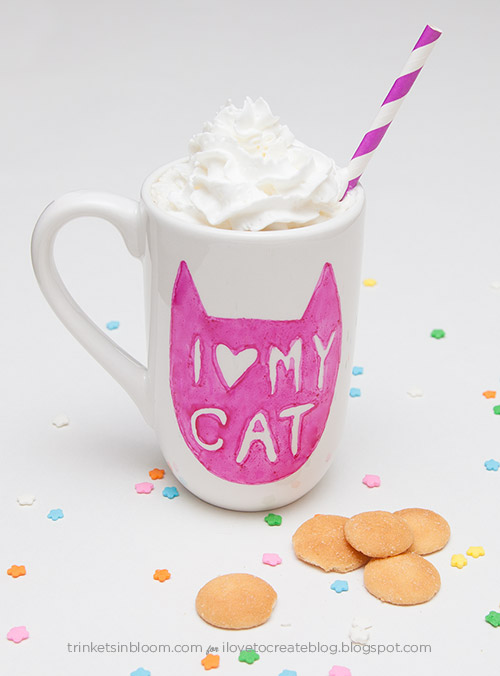 Tell the world how you really feel with this I Love My Cat mug DIY, from I Love to Create.