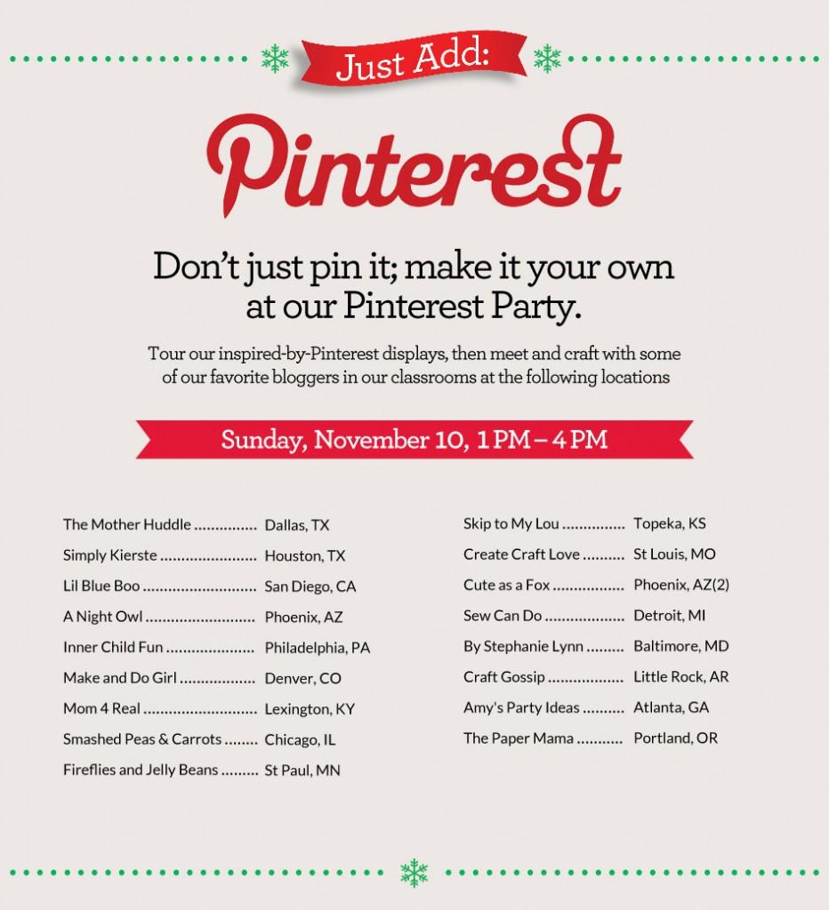 Michaels Pinterest Craft Party