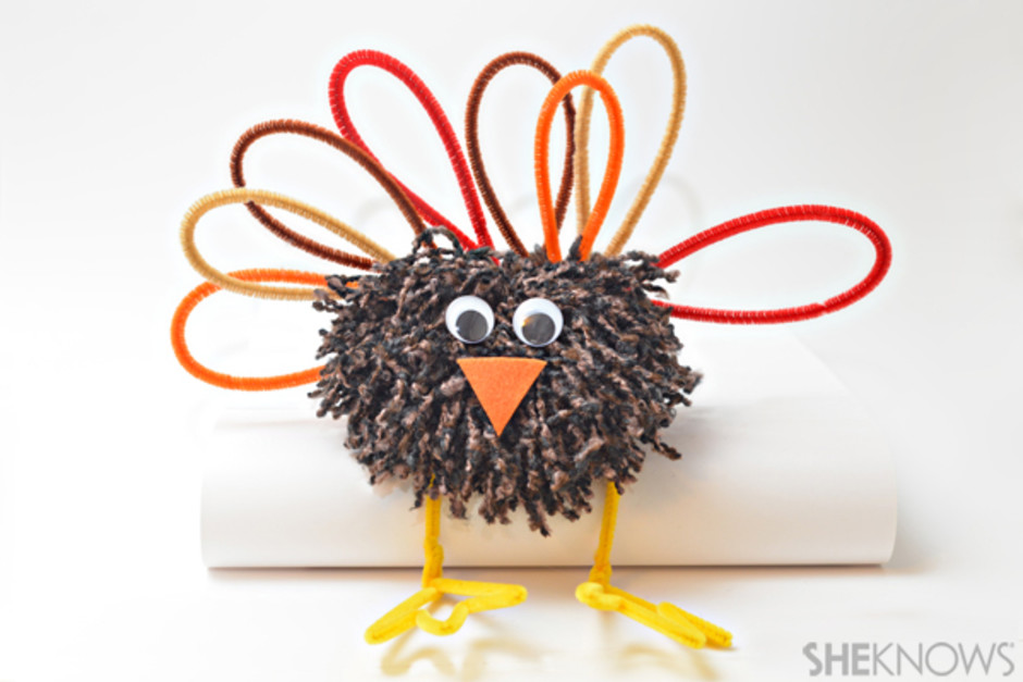 Pom poms are always perfect for kid crafting and apparently they are also perfect for making cute little pom pom turkeys! Find out how to make these cute turkeys on She Knows.