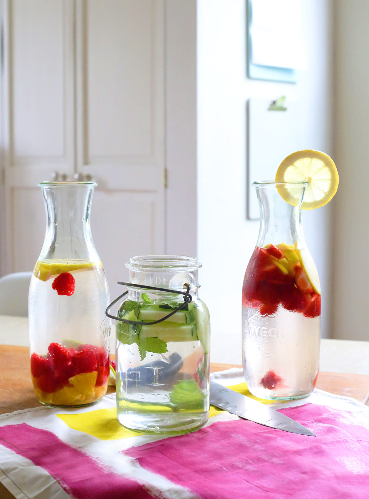 Back to School Infused Water Recipes in Jars