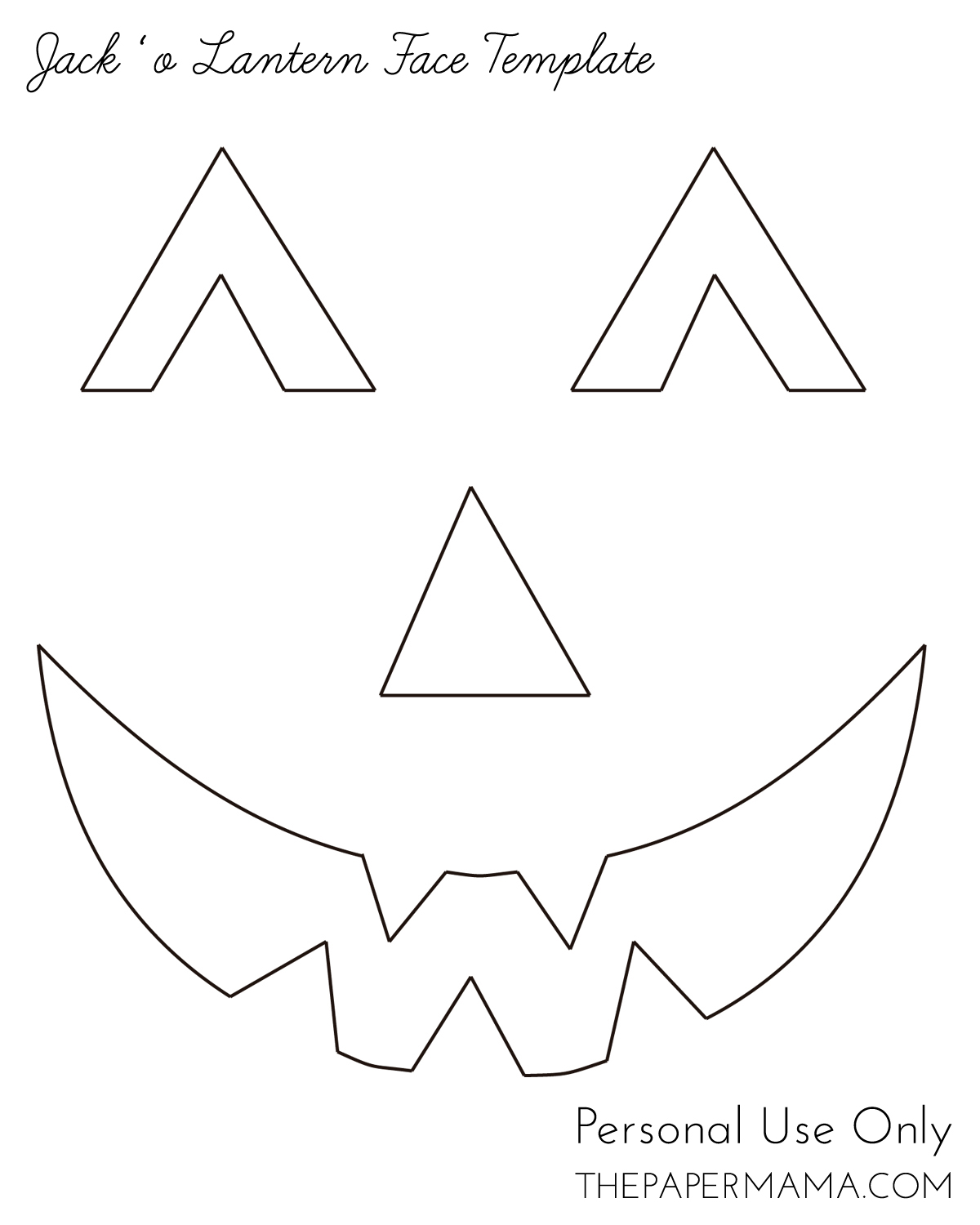 Yarn jack 39 o lantern face bhg style spotters for Pumpkin mouth template