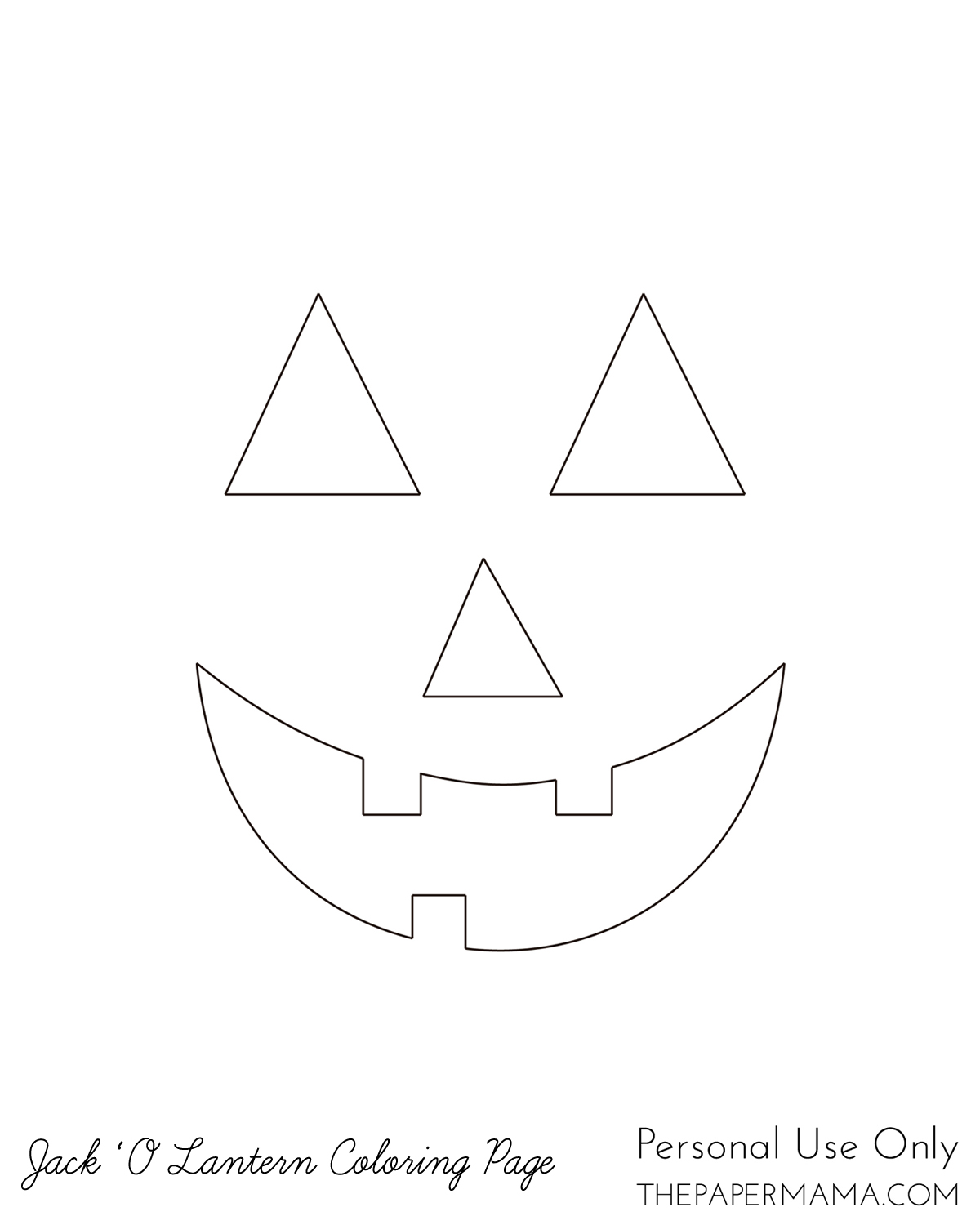 picture relating to Printable Jack O Lantern Faces identified as Jack O Lantern Coloring Site