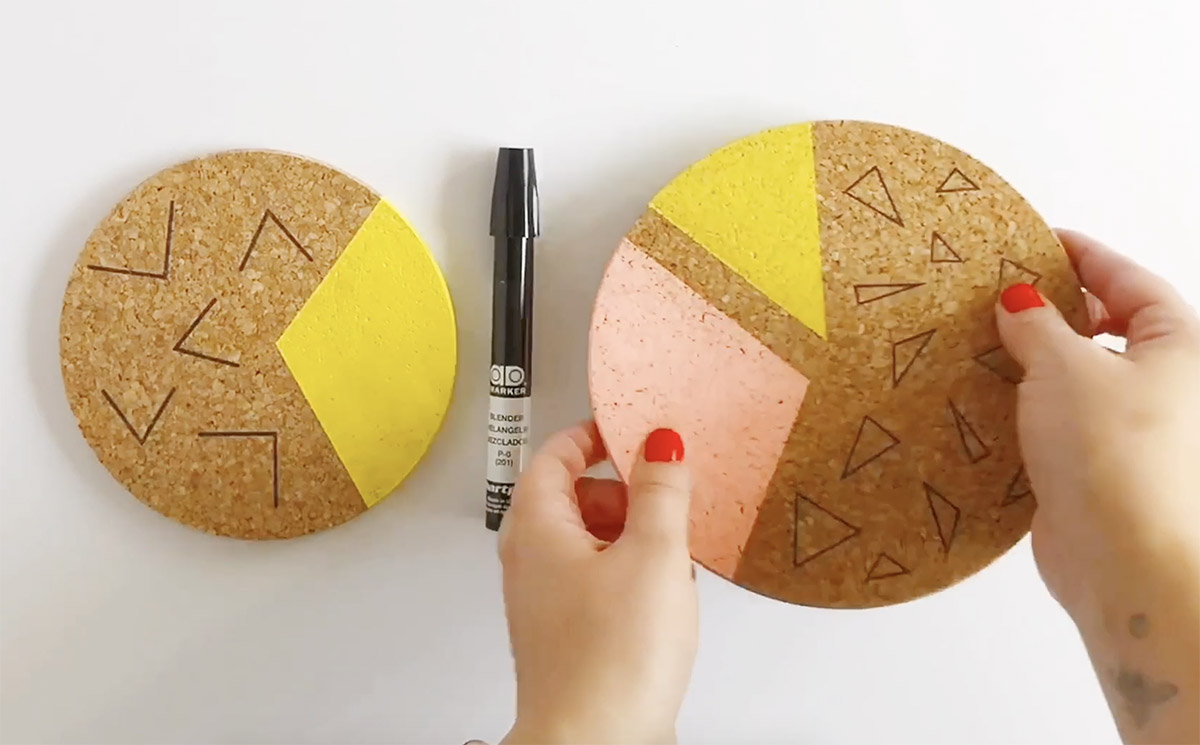 DIY Colorblocked Cork Boards