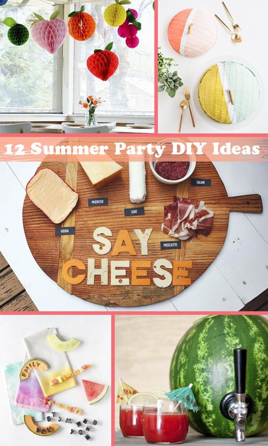 12 Summer Party Diy Ideas