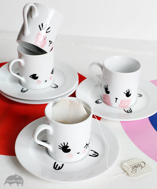 How sweet are these little espresso sets? Via Small For Big.