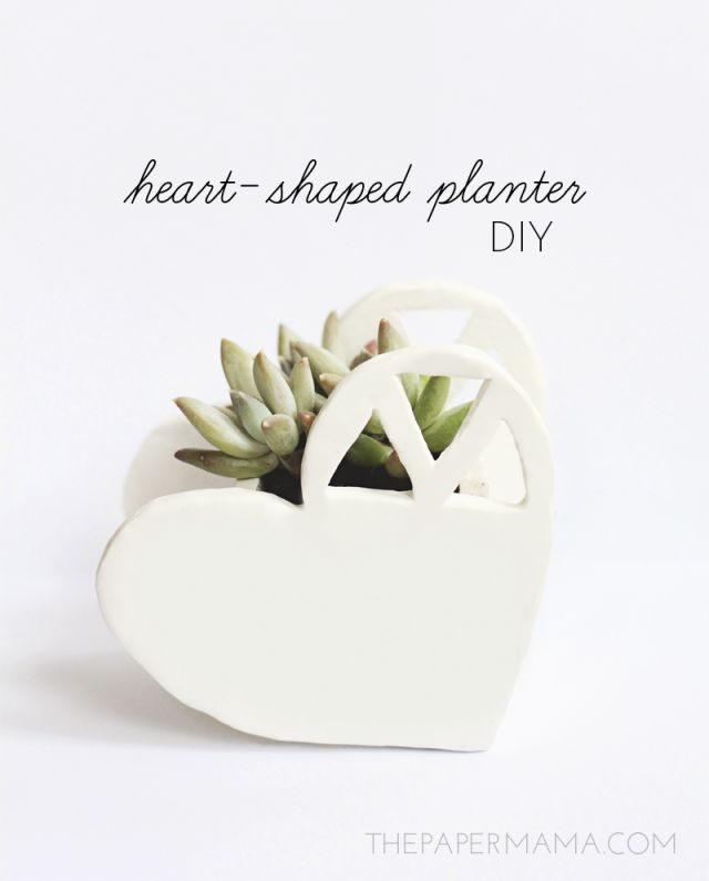 Day 24 Handmade Gift: Heart-Shaped Planter DIY