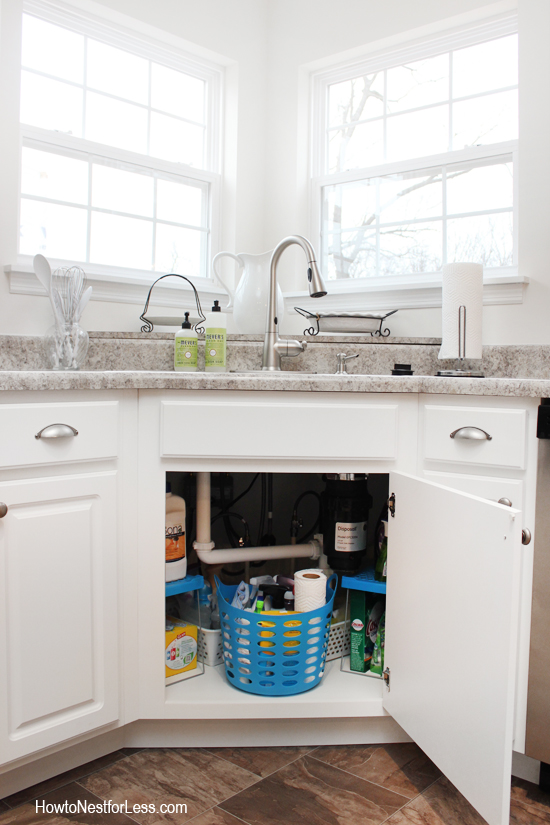 Spend less than $9 to organize the space under your sink, on How To Nest For Less.