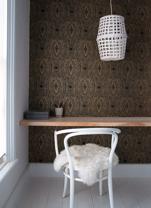This pendant light was made from two baskets! Found on Design Sponge.