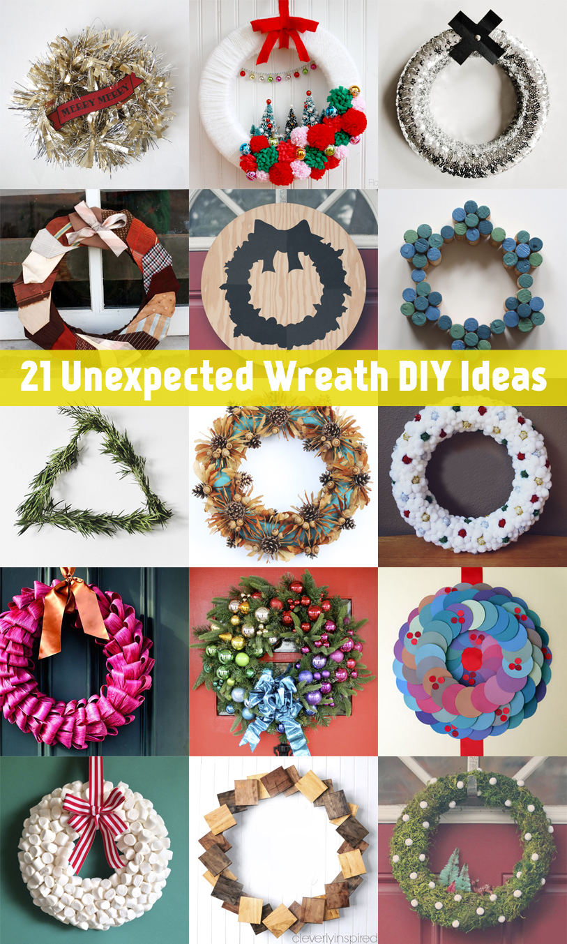 21 Unexpected Wreath DIY Ideas